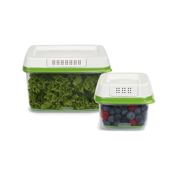 These airtight containers ventilate your produce and the bottom tray of the containers keeps moisture away from your produce