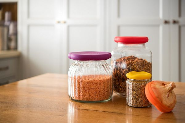 "Use these sustainable covers to save open jars like baby food and pet food. Get them <a href=""https://www.amazon.com/dp/"