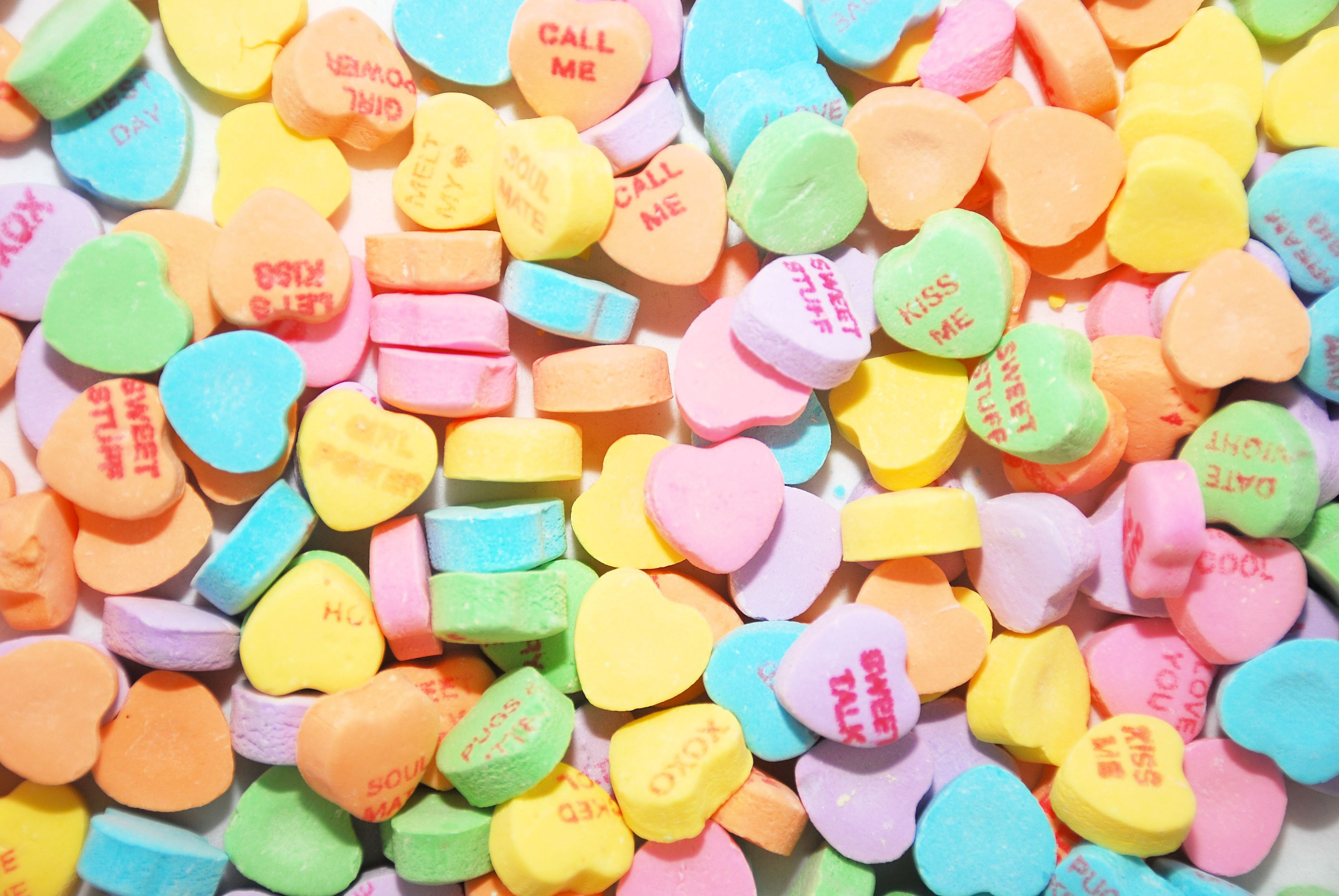 Conversation heart background, great for Valentine's Day projects