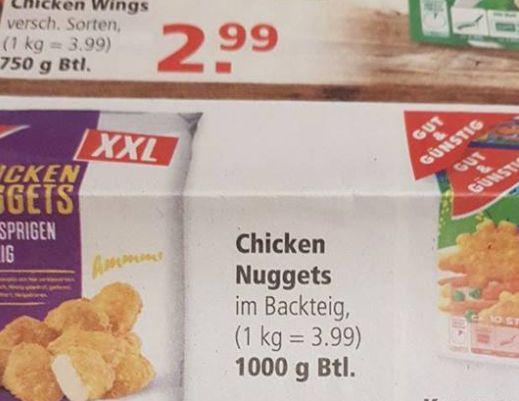 Edeka wirbt in neuem Prospekt für Chicken Nuggets – und übersieht einen peinlichen