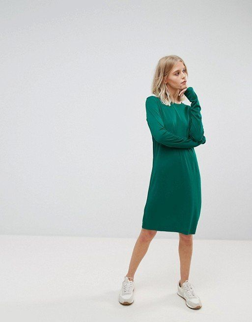 """<strong><a href=""""http://us.asos.com/weekday/weekday-column-dress/prd/8951519?clr=green&SearchQuery=weekday%20column%20dre"""