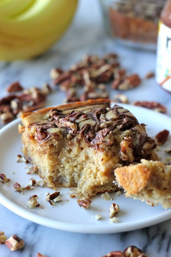 """<strong>Get the <a href=""""http://damndelicious.net/2013/03/29/banana-pecan-and-nutella-swirled-snack-cake/"""" target=""""_blank"""">Ba"""
