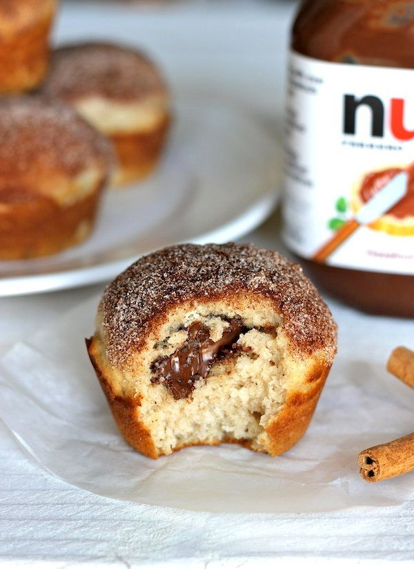"""<strong>Get the <a href=""""http://damndelicious.net/2012/08/06/muffinmonday-nutella-stuffed-cinnamon-sugar-muffins/"""" target=""""_b"""