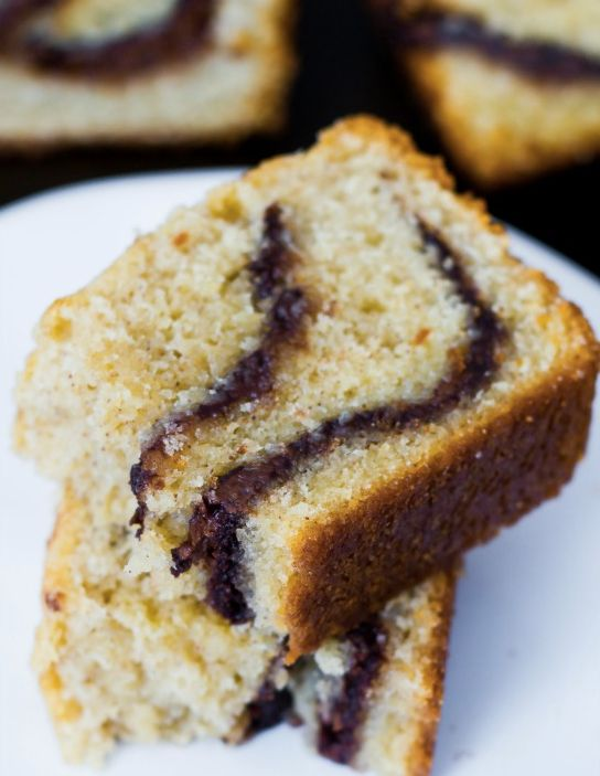 "<strong>Get the <a href=""http://sallysbakingaddiction.com/2013/03/23/nutella-swirl-pound-cake/"" target=""_blank"">Nutella Swirl"
