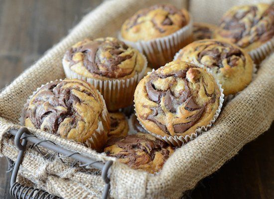 """<strong>Get the <a href=""""http://www.thenovicechefblog.com/2013/01/nutella-banana-swirl-muffins/"""" target=""""_hplink"""">Nutella Ban"""