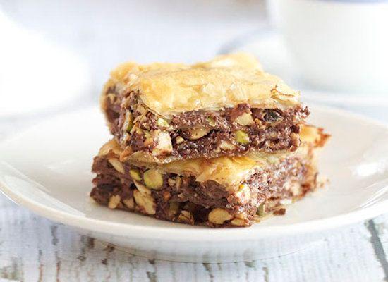 "<strong>Get the <a href=""http://www.epicureanmom.com/2012/02/nutella-baklava.html"">Nutella Baklava recipe</a> from Epicurean"