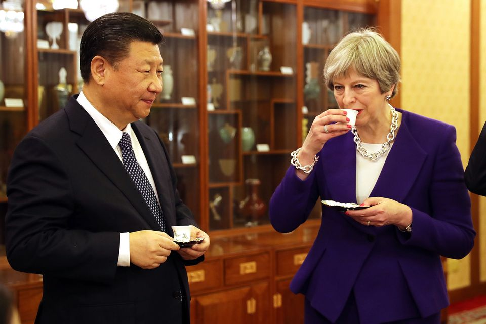 Xi Jinping and Theresa