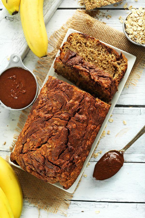 "<strong>Get the<a href=""https://minimalistbaker.com/1-bowl-nutella-banana-bread-vegan-gf/"" target=""_blank""> 1-Bowl Nutella Ba"