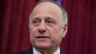 UNITED STATES - JANUARY 19: Rep. Steve King, R-Iowa, attends a rally for Iowans in Russell Building prior to the anti-abortion March for Life on the Mall on January 19, 2018. (Photo By Tom Williams/CQ Roll Call)