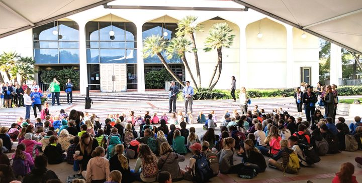 Students in Santa Barbara return to classes at a new campus after their school was closed following mudslides.