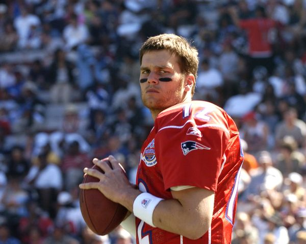Competing in the 2005 Pro Bowl game at Aloha Stadium in Honolulu on Feb. 13, 2005.