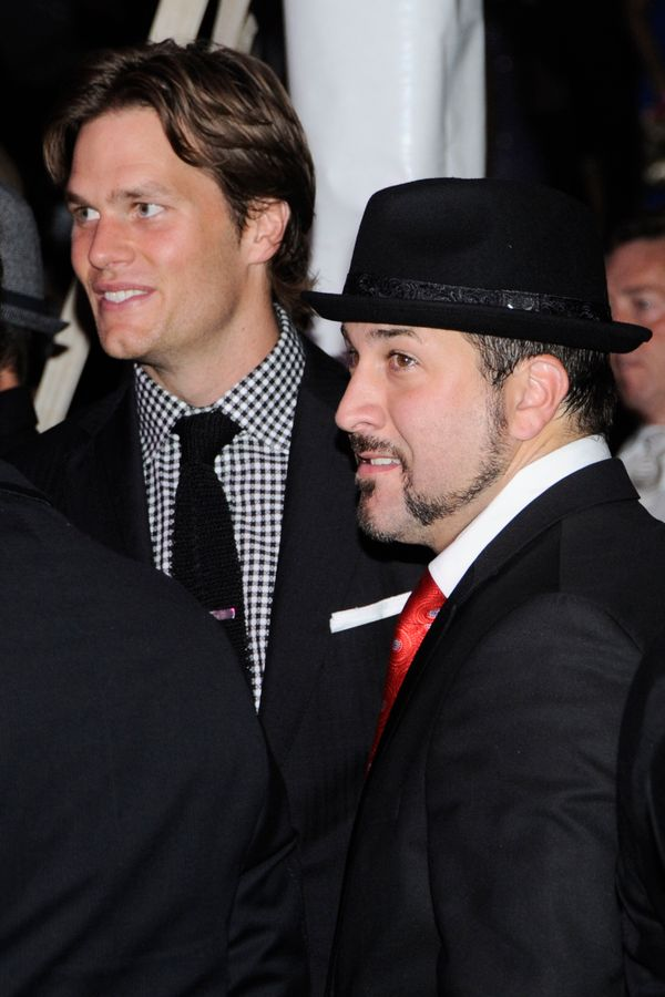 With Joey Fatone at the Barnstable Brown at the 136th Kentucky Derby on April 30, 2010, in Louisville, Kentucky.