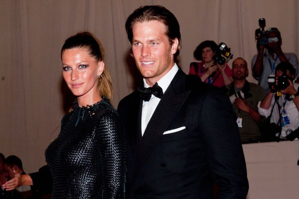"""With Bundchen at the """"American Woman: Fashioning A National Identity"""" Costume Institute Gala at the Metropolitan Museum"""