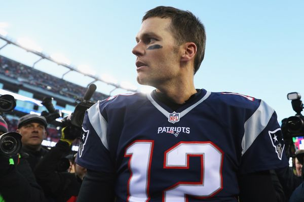 After defeating the Los Angeles Rams 26-10 to become the NFL's all-time leader for wins as a quarterback at Gillette Stadium
