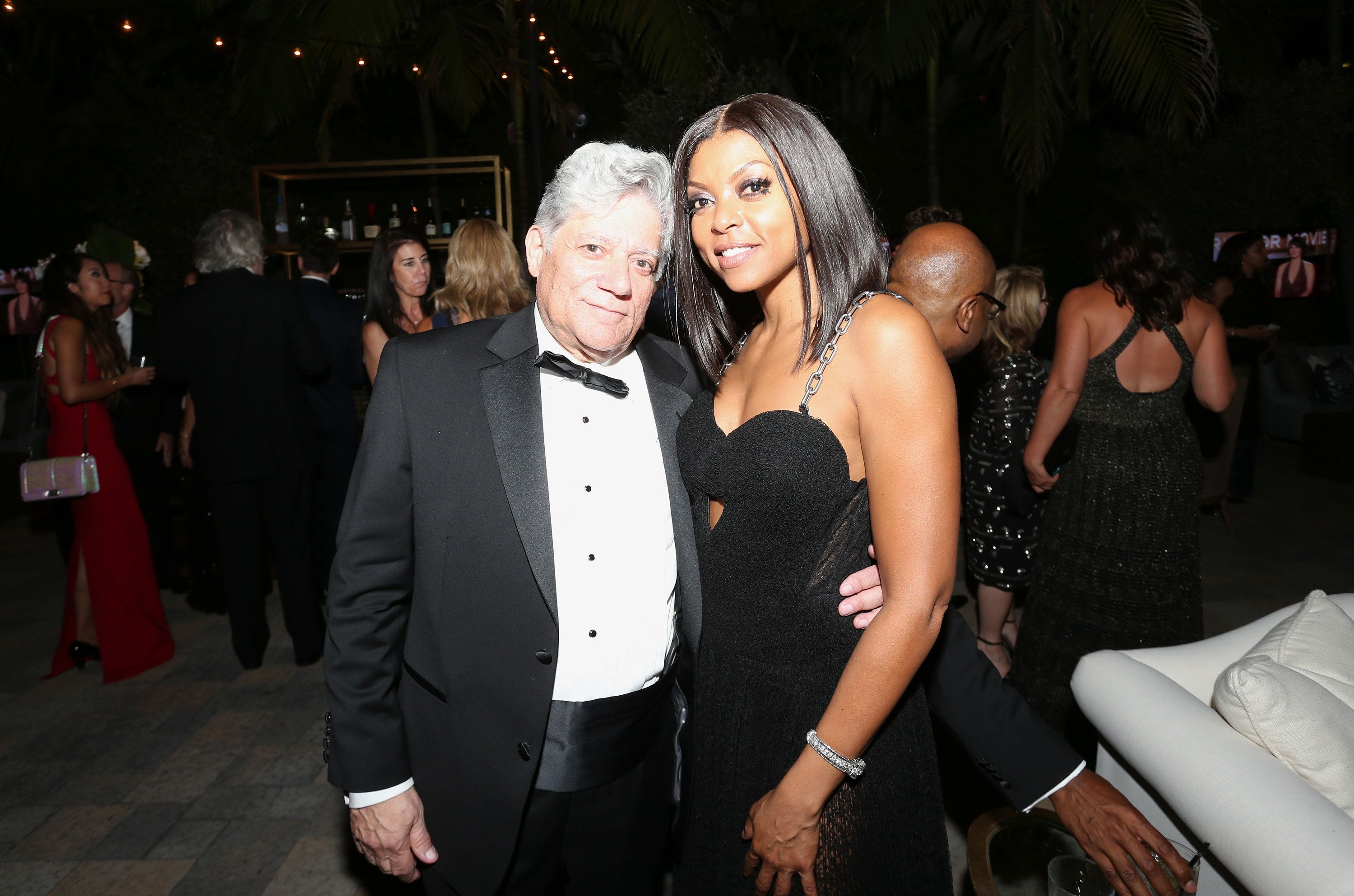 Taraji P. Henson with manager Vincent Cirrincione at an Emmy Awards after-party in