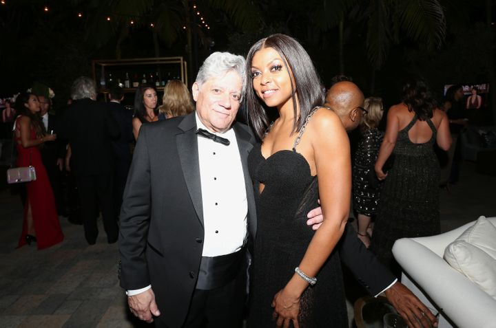Taraji P. Henson with manager Vincent Cirrincione at an Emmy Awards after-party in 2015.