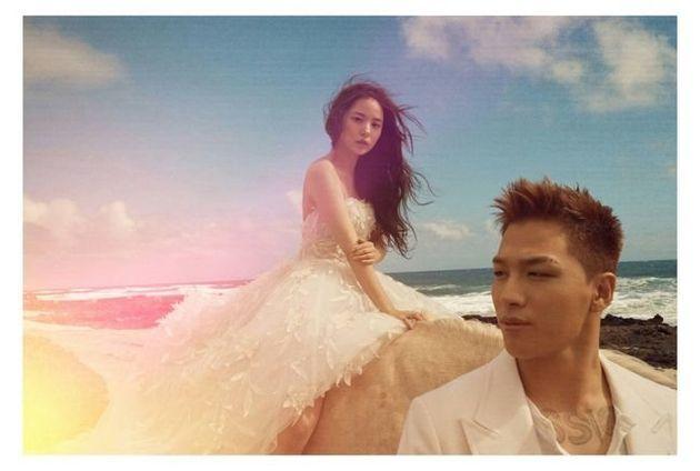 [공식입장] '오늘 결혼' 태양♥민효린, 웨딩화보 공개..하와이 빛낸