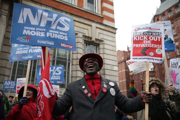 Protesters called on the Government to provide more beds, staff and funds to ease the problems facing...