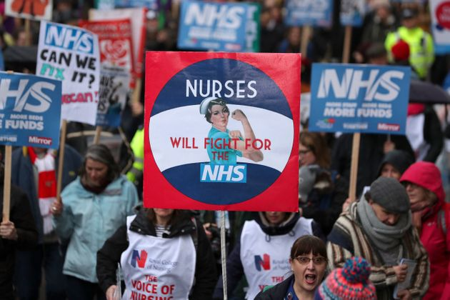 Slogans such as 'No ifs, no buts, no NHS cuts' were chanted as protesters gathered at Gower