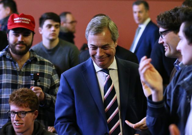 Farage received a standing