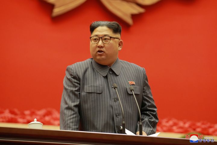 North Korean dictator Kim Jong Un speaks Dec. 23.