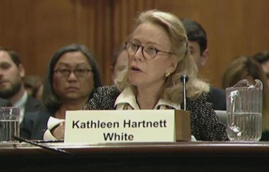 Senate EPW Kathleen Hartnett White testified before the Senate Environment and Public Works Committee in November