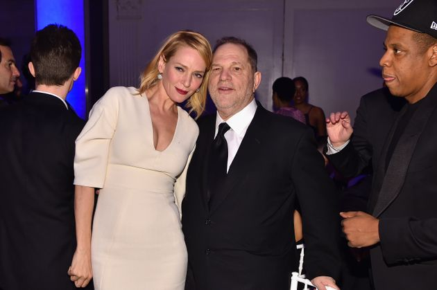 Uma Thurman and Harvey Weinstein pictured in