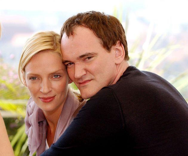 Quentin Tarantino and Uma Thurman during a photocall for 'Kill Bill Vol