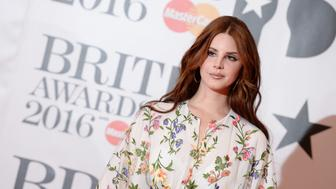 LONDON, ENGLAND - FEBRUARY 24:  Lana Del Ray attends the BRIT Awards 2016 at The O2 Arena on February 24, 2016 in London, England.  (Photo by Dave J Hogan/Getty Images)