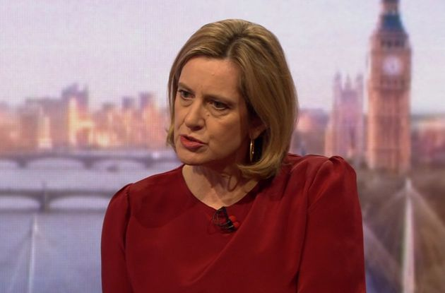 Amber Rudd has been speaking on the BBC's Andrew Marr