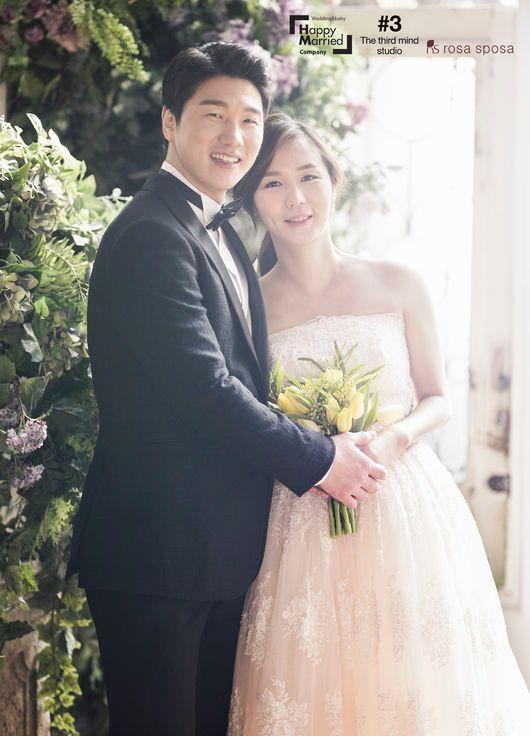 [화보] '국가대표 부부' 이원희♥윤지혜, 러블리 웨딩화보