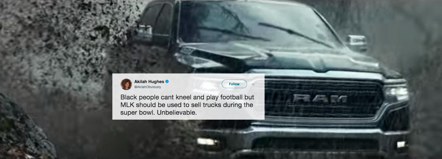 Dodge Super Bowl Ad Used MLK Quote To Sell Trucks And People Are Not