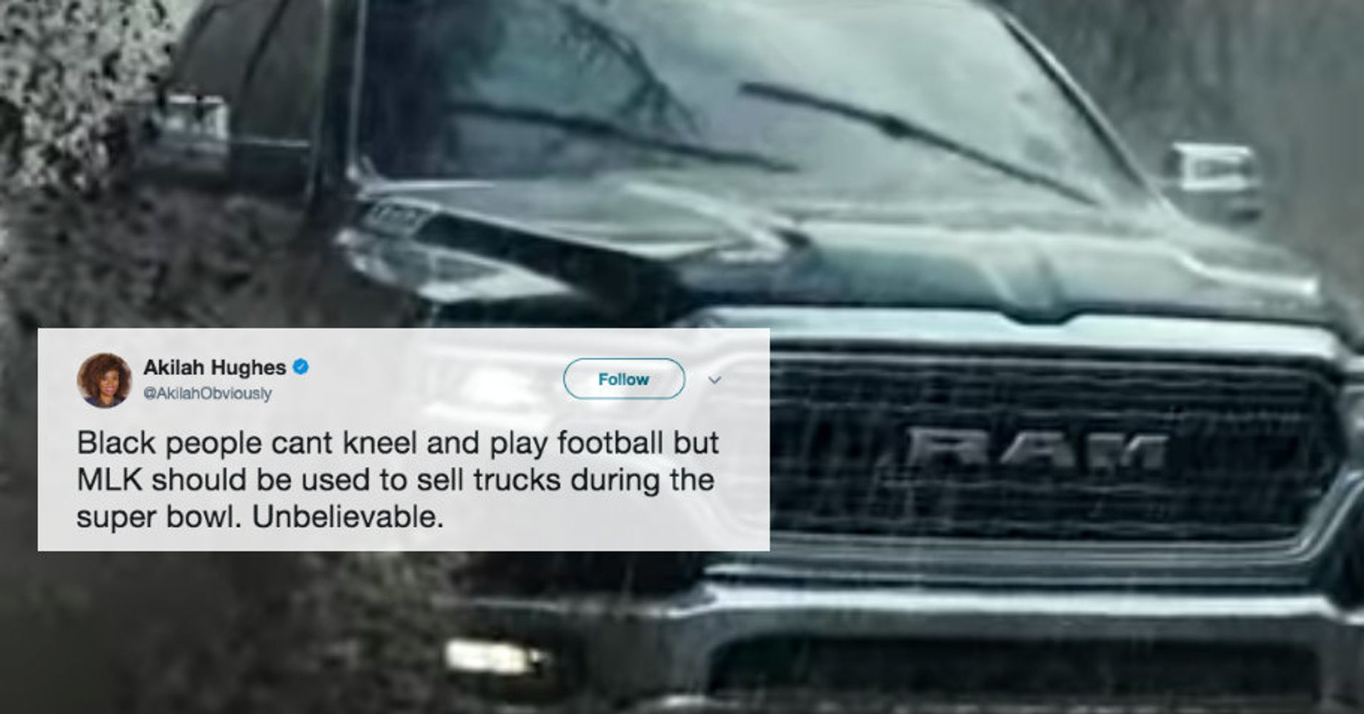 Ram Super Bowl Ad Used MLK Quote To Sell Trucks And People Are Not ...