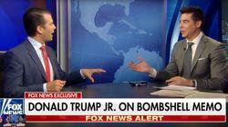 Trumps Sohn taucht in Talkshow auf – und bringt seinen Vater mit zwei Worten in die Bredouille