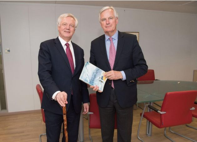 David Davis and Michel Barnier will discuss transition arrangements after Britain leaves the