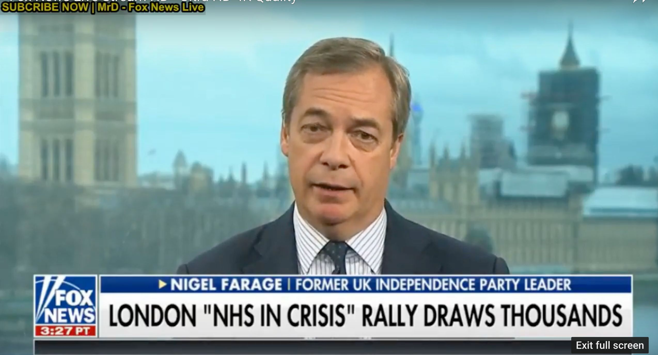 Donald Trump Attacks The NHS Minutes After Nigel Farage Appears On Fox