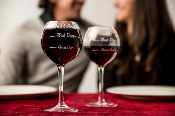 """Mom not a big talker? This <a href=""""https://www.fun.com/how-was-your-day-wine-glass.html"""" target=""""_blank"""">wine glass </a>is a"""