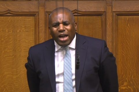 Labour MP David Lammy in his exchange with Dominic