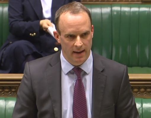 Dominic Raab, Housing Minister, called David Lammy's question
