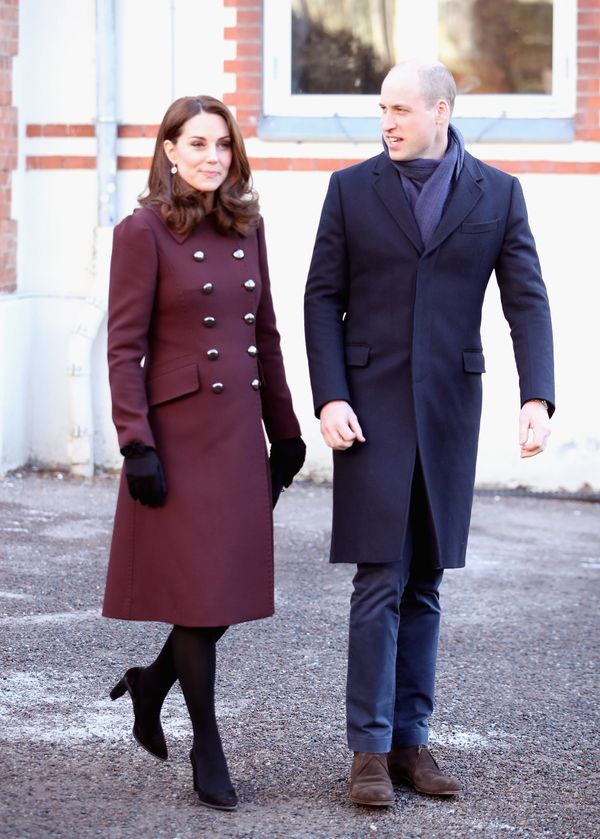 Kate and William depart the Hartvig Nissen School in Oslo on Feb. 2.