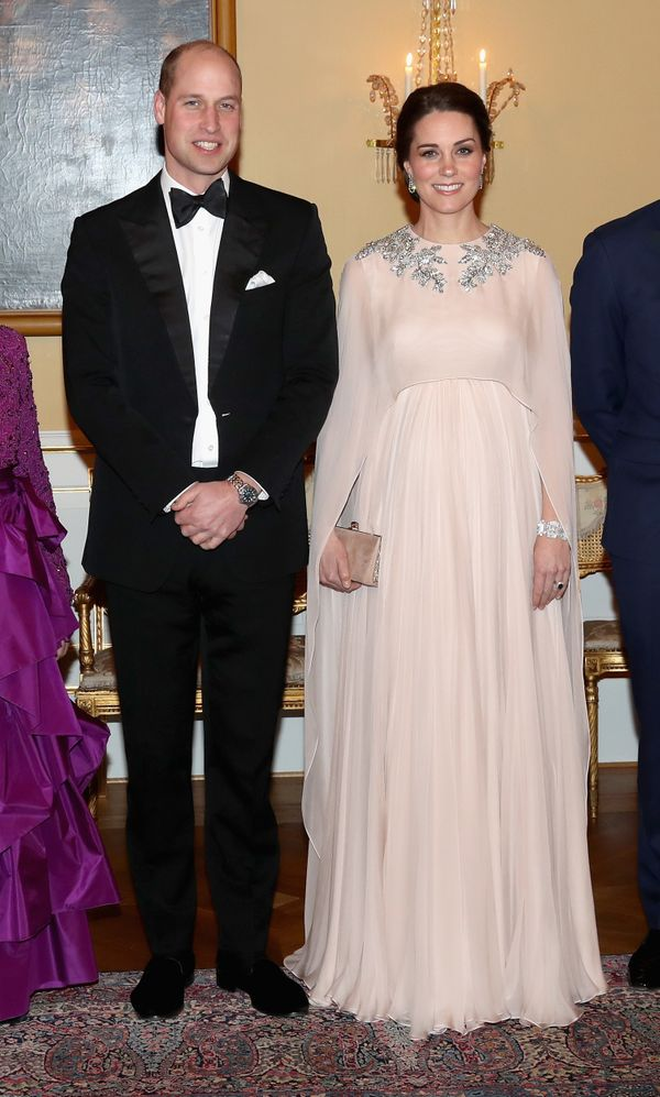 \William and Kate attend dinner at the Royal Palace in Oslo on Feb. 1.