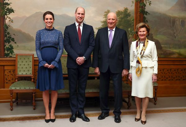 The royals attend a luncheon hosted by Norway's King Harald and Queen Sonja on the third day of their trip.