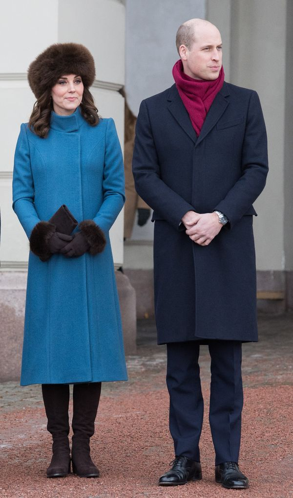 The royals visit the Princess Ingrid Alexandra Sculpture Park in Oslo, Norway, on Feb. 1.