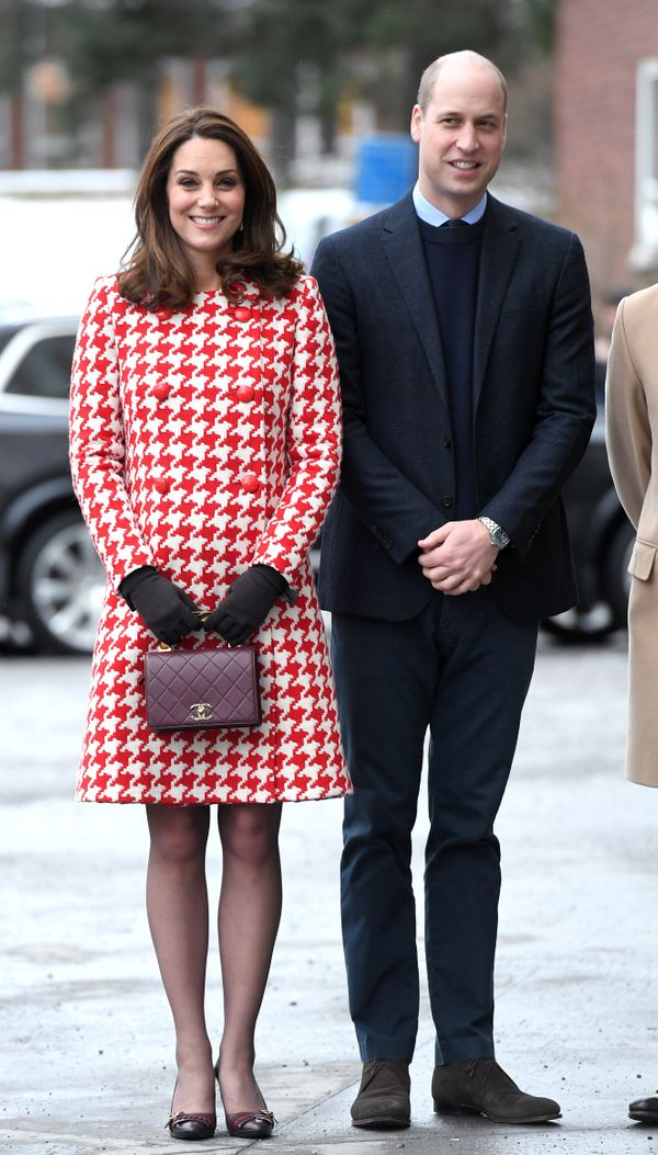 Kate and William visit the Karolinska Institute in Sweden on Jan. 31.