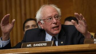 WASHINGTON, DC - JANUARY 24:  Sen. Bernie Sanders (I-VT) questions Congressional Budget Office Director Keith Hall during Hall's testimony before the Senate Budget Committee January 24, 2018 in Washington, DC. The committee heard testimony relating to oversight of the Congressional Budget Office.  (Photo by Win McNamee/Getty Images)