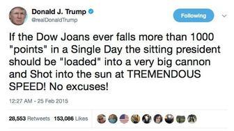 The joke tweet attributed to Trump