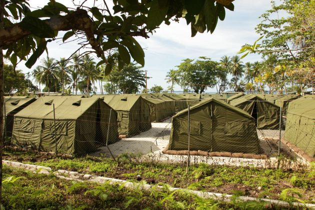 The former Manus Island center, in a photo from 2012, has been closed, but the fate of those who are...