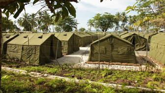 MANUS ISLAND, PAPUA NEW GUINEA - OCTOBER 16: In this handout photo provided by the Australian Department of Immigration and Citizenship, facilities at the Manus Island Regional Processing Facility, used for the detention of asylum seekers that arrive by boat, primarily to Christmas Island off the Australian mainland, on October 16, 2012 on Manus Island, Papua New Guinea. The Australian government announced in a joint press conference with Papua New Guinea's Prime Minister Peter O'Neill that all asylum seekers that arrive at Christmas Island or the Australian mainland will be processed and resettled in Papua New Guinea. (Photo by the Australian Department of Immigration and Citizenship via Getty Images)