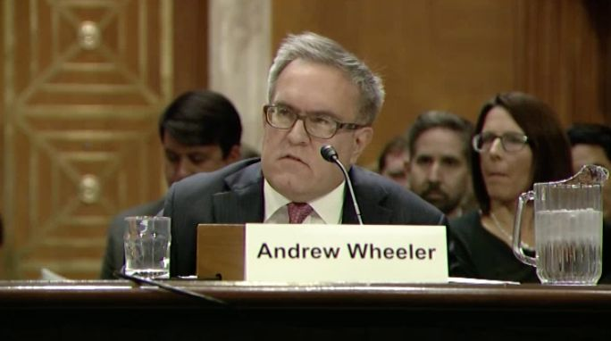 Andrew Wheeler, nominated to be EPA deputy administrator, appeared before the Senate Environment and Public Works Commit