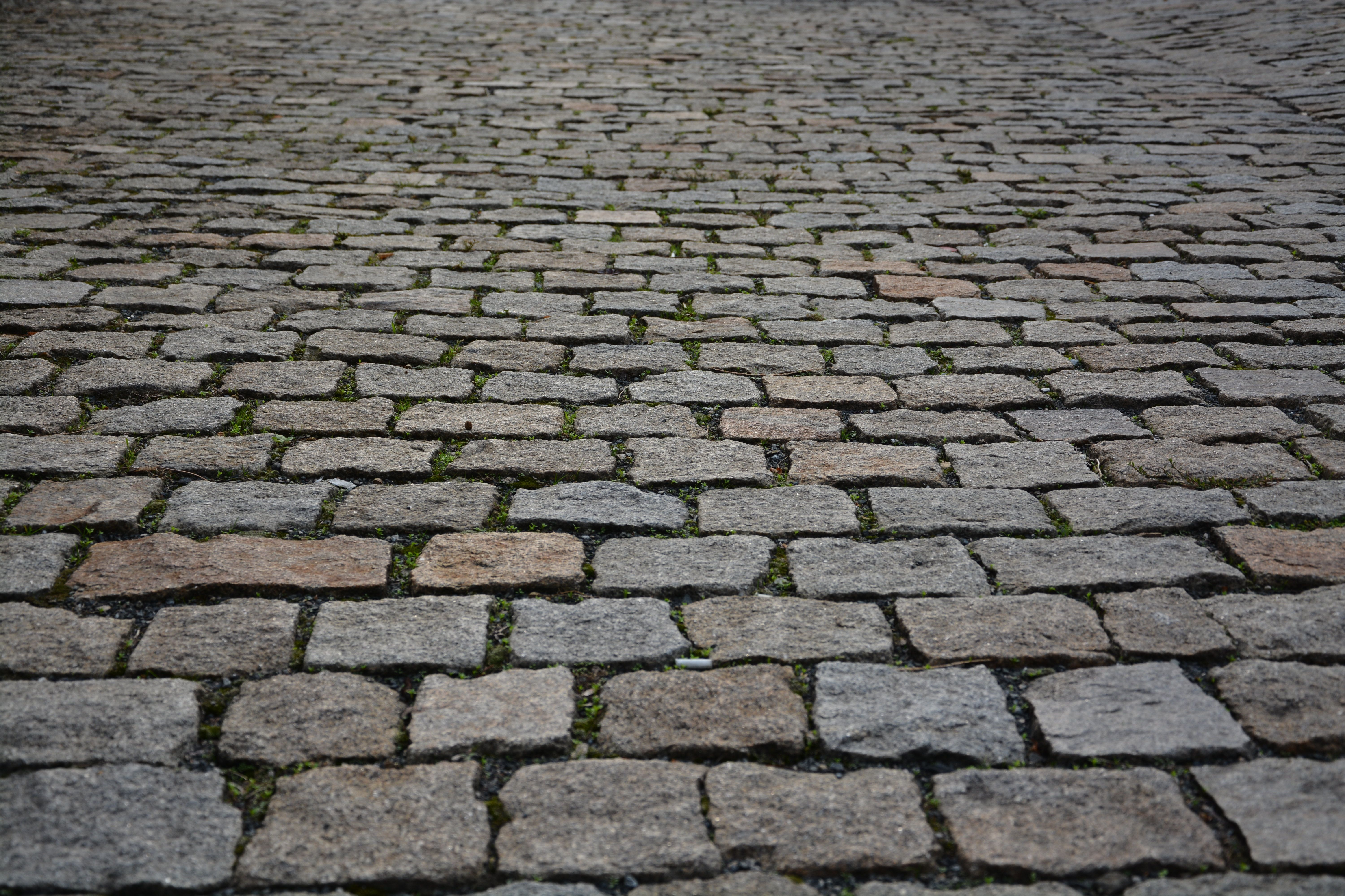 Road with cobble stones